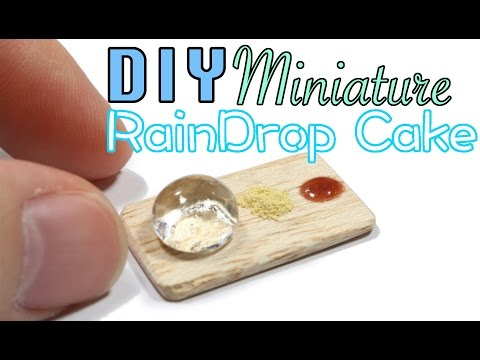 DIY Miniature Rain Drop Cake Resin Tutorial