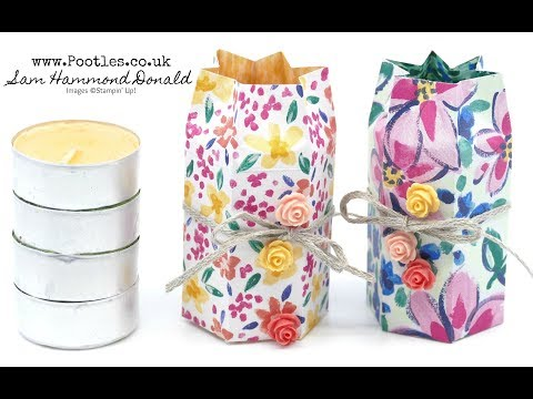 Hexagonal Tea Light Box using Garden Impressions - วันที่ 24 Oct 2018