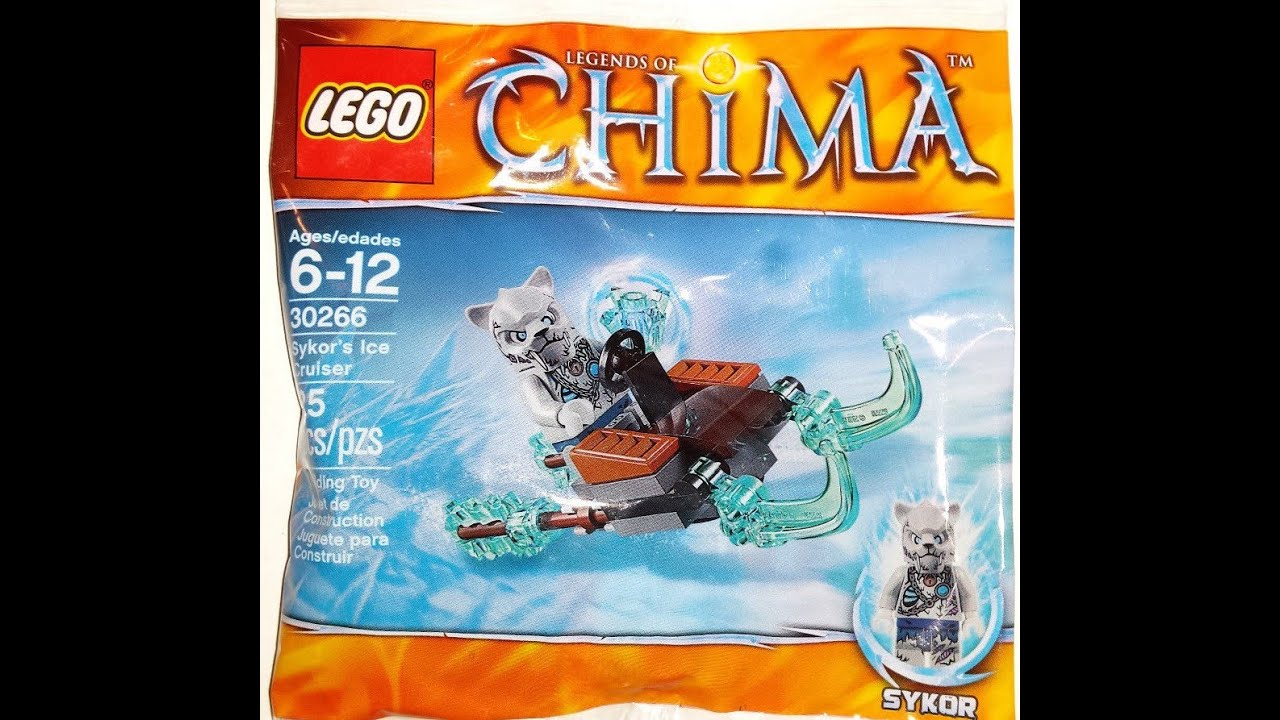 LEGO Chima Sykor's Ice Cruiser Review and Time-Lapse! Set 30266