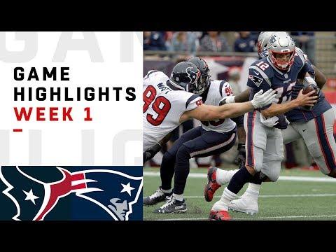 Texans vs. Patriots Week 1 Highlights | NFL 2018