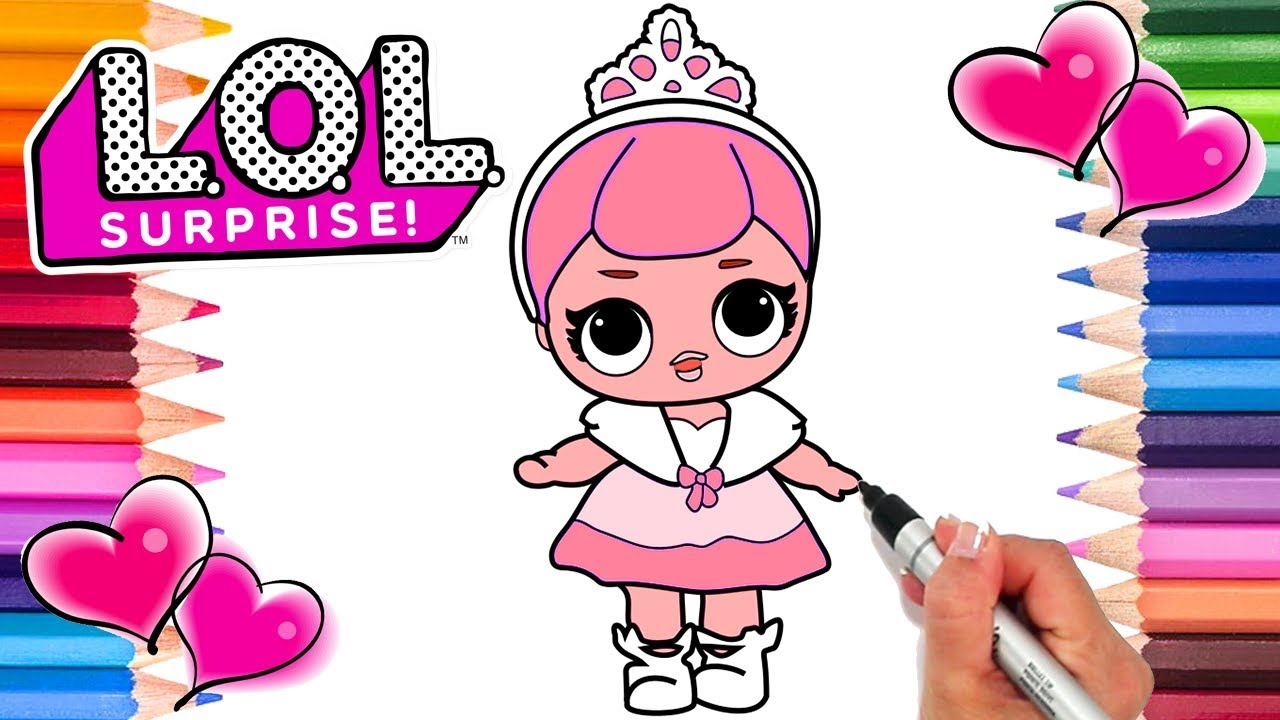 LOL Dolls Crystal Queen Coloring Page | LOL Dolls Coloring Book ...