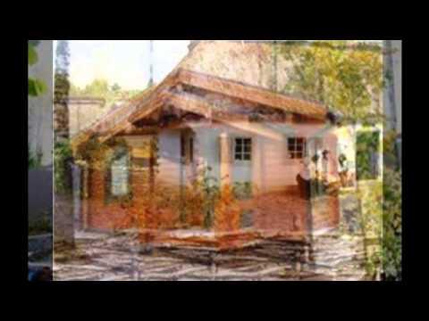 Красивая отделка фасада садового домика