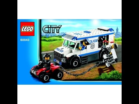 Lego Prisoner Transporter Set 60043 Instructions Youtube