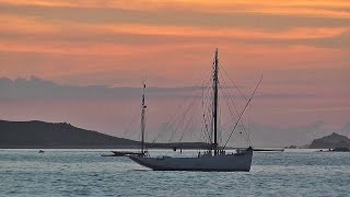 Isle of Scilly Sunset : Beautiful Red Sky Over Tresco and Bryher