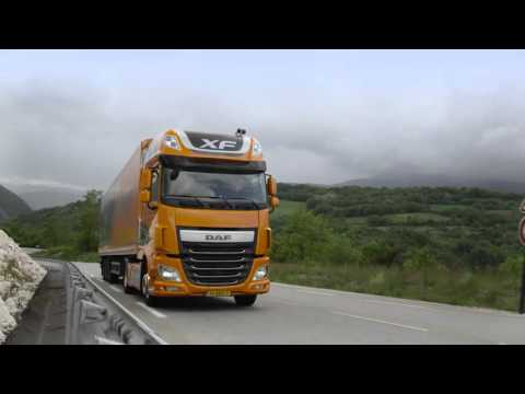 DAF Trucks UK | Predictive Cruise Control (PCC) In Action | Informational Video