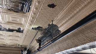 Removing Paint and Corrosion from Metal Ceiling Tile Dry Ice Blasting Technology