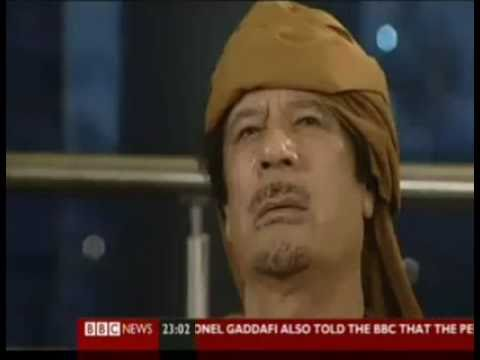 Gaddafi hits back at BBC in English for the first time!