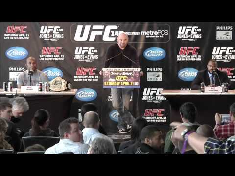 UFC® 145: Jones vs. Evans Ticket On-Sale Presser