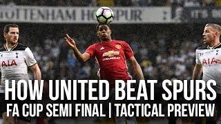 How Manchester United Beat Tottenham Hotspur | FA Cup Semi Final | Tactical Preview