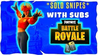 🔴SOLO SNIPES AND CREATIVES//SUB GAMES//CODE NICTRIXYT: FORTNITE BATTLE ROYALE (LIVE)