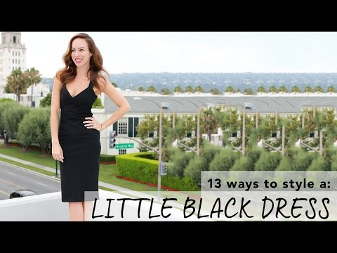 a358c381e51a How to Wear a Little Black Dress I Holiday Party Lookbook - YouTube