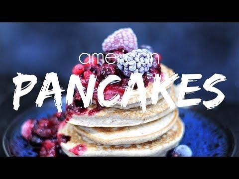 vegan-american-pancakes-|-rood-fruit-compote-|-let's-vegan!
