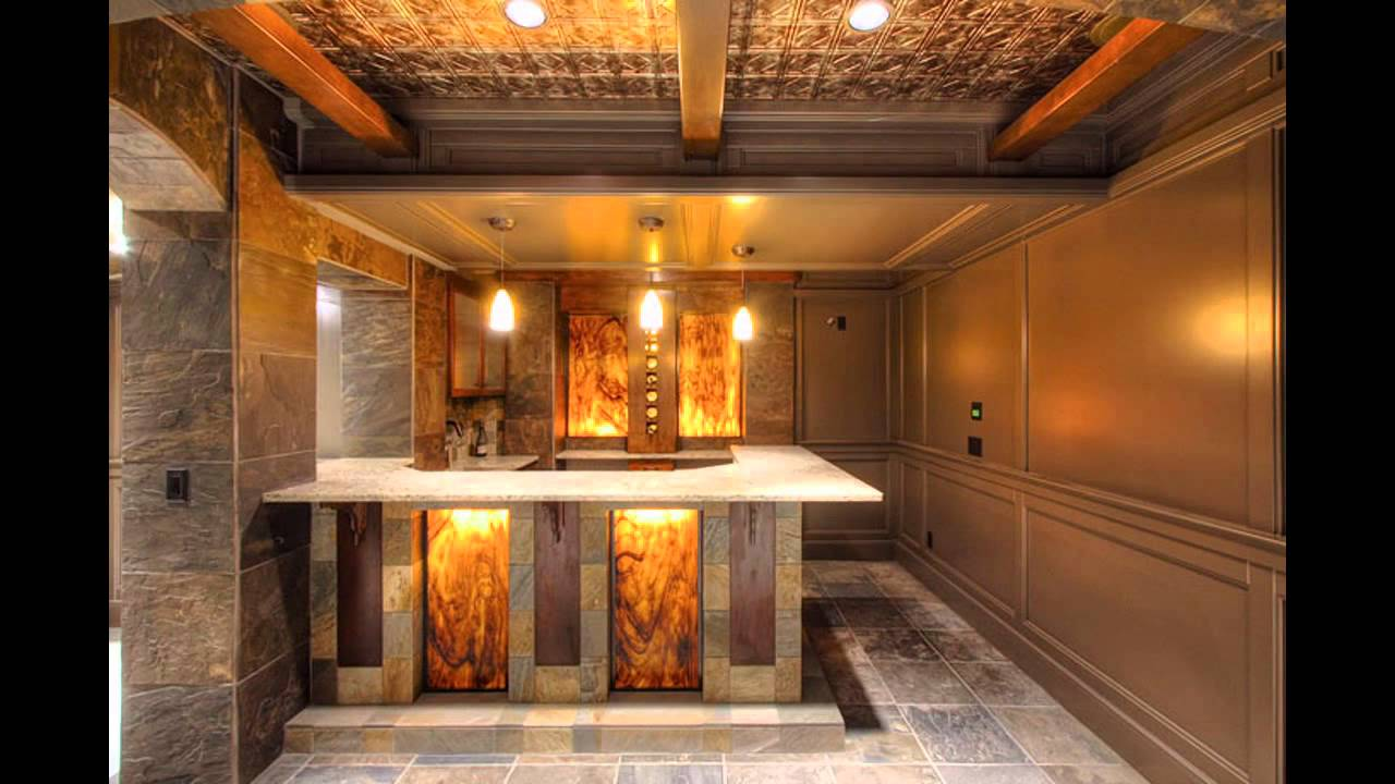 Home mini bar design and decorations - YouTube