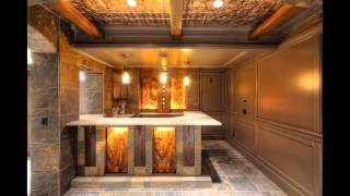 Home mini bar design and decorations