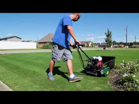California Trimmer 20 Classic Reel Mower Review Youtube