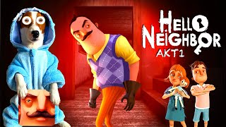 ЛОКИ БОБО играет в Привет сосед 1 акт Hello neighbor Act 1