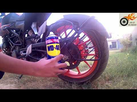KTM DUKE 200 Chain clean &  lub