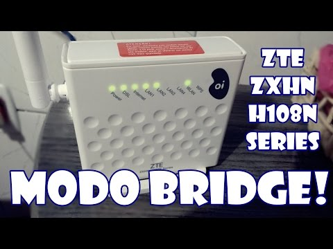 Como Colocar O Modem ZTE Zxhn H108n Series Modo Bridge(portas Abertas)
