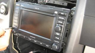 How to Remove Radio / Navigation / CD Changer from Dodge Charger 2006 for Repair.