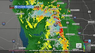 Severe thunderstorm watches, warning issued in west michigan