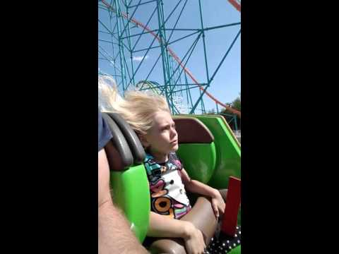 8yr old first ride  - Twisted Colossus - Six Flags Magic Mountain