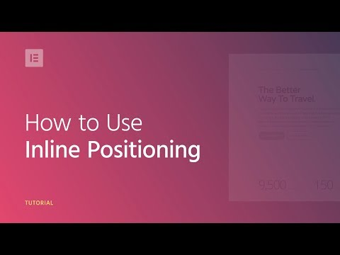 How to Use Inline Positioning in Elementor