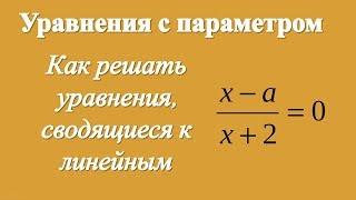 Как решать уравнения, сводящиеся к линейным уравнениям с параметром
