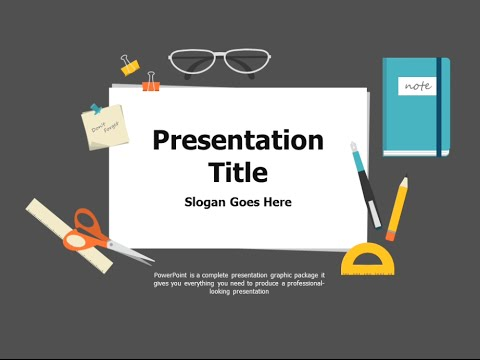 School supplies animated ppt template youtube school supplies animated ppt template toneelgroepblik Gallery