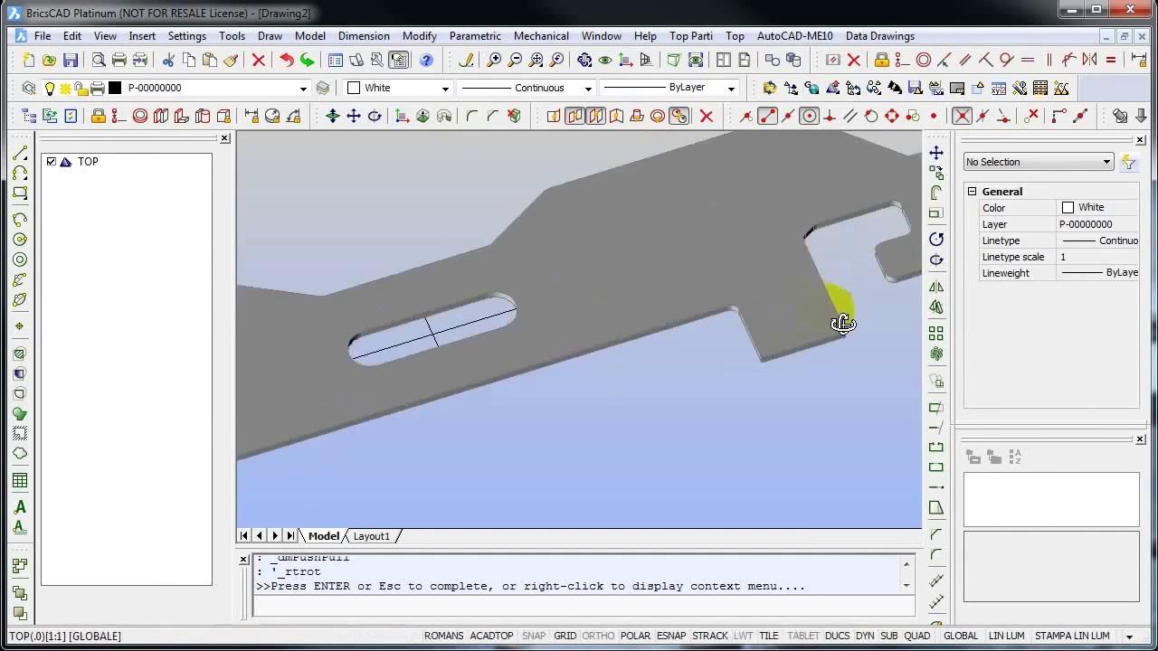BRICSCAD: 3D Modeling a simple door frame