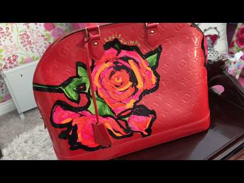Unboxing a Special Edition Louis Vuitton Alma Gm Stephen Sprouse Roses handbag