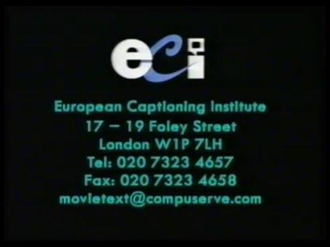 European Captioning Institute Closed-Captions Screens ...