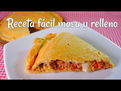 Tarta de atún MASA Y RELLENO FACIL empanada gallega de atun
