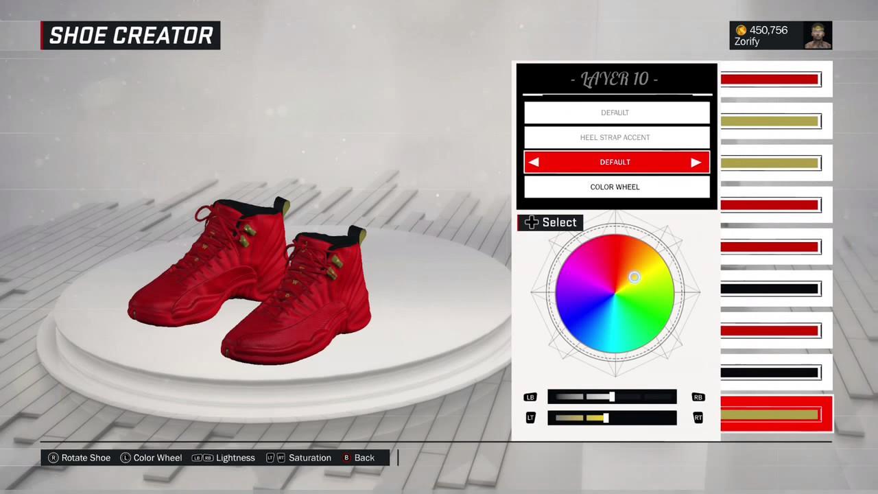 a206fa951884e NBA 2K17 Shoe Creator - Air Jordan 12 Custom