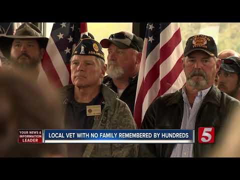 David Fisch - Hundreds Attend Funeral Of Lonely Veteran