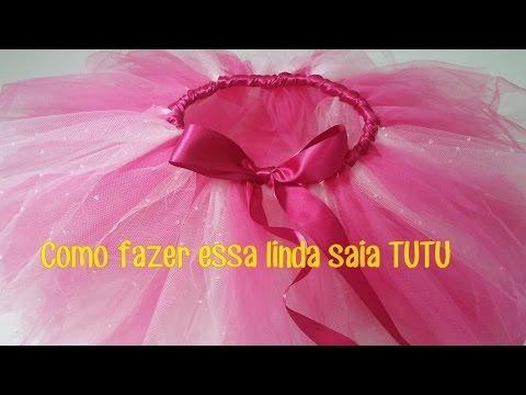 05fa50fd13 SAIA TUTU   TULE - DIY - FAÇA VOCÊ MESMA - YouTube