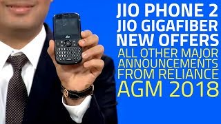 Jio Phone 2, Jio GigaFiber, Monsoon Hungama Offer, and Everything Announced at Reliance AGM 2018