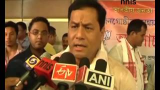 Centre Vows To Free Assam From B'desh Migrants Sonowal