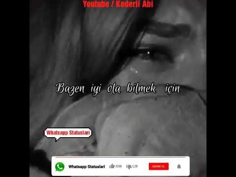 Qemli Whatsapp status ucun video durum Sevgi qemli menali duygusal anlamli aglamali ayriliq xeyanet