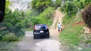 Driving from Mulloch to Treadways in Saint Catherine, Jamaica