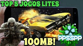 TOP 5 JOGOS LITES PARA PPSSPP COM MENOS DE 100MB