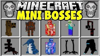 Minecraft MINI BOSSES MOD   FIGHT EPIC MINECRAFT BOSSES AND TRY TO SURVIVE!!