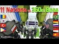 11 Nations vs 360m Boss - Minecraft War Robot Cup