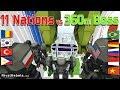 11 Nations vs 360m Boss - Minecraft War Robot Cup