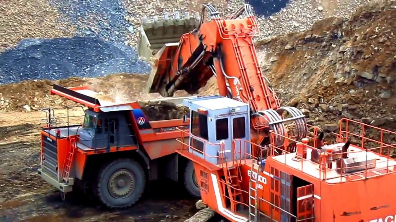 Big Dump Trucks >> Hitachi EX1800-2 Loading EH1700-3's - YouTube