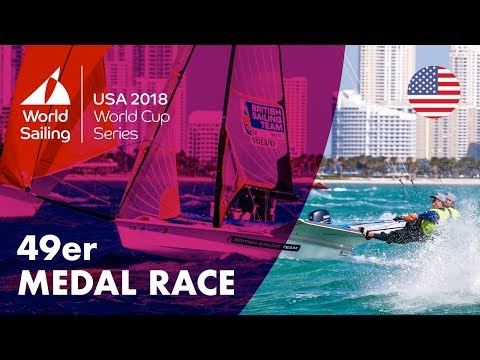 Full 49er Medal Race  Sailing's World Cup Series  Miami, USA 2018