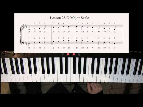 Learn how to play the D Major Scale on the Piano for Beginners  Lesson Tutorial 28