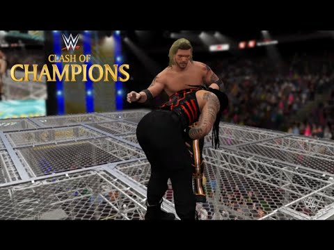WWE 2K16- Edge vs. Roman Reigns -Hell In A Cell Match for WWE Championship At Clash of Champion(PS4)