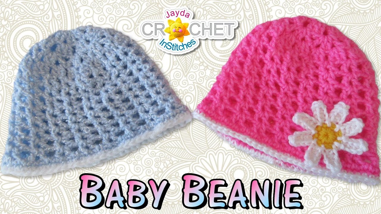7c2d87281803a8 Easy Crochet Baby Beanie - YouTube