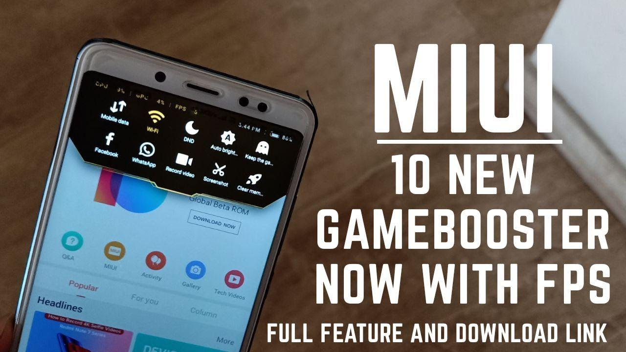 How to get the new miui game booster with fps in any xiaomi device  officially / hindi