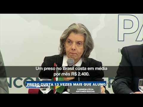 Brasil gasta mais com um preso do que com um estudante